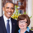 Karen MacDonald '81 honored by President Obama for being named Maine's 2014 Teacher of the Year